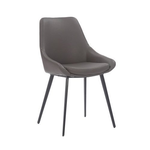 Daimyo Anthracite Faux Leather Dining Chair