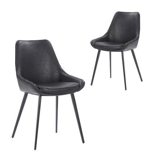 Daimyo Black Faux Leather Dining Chair