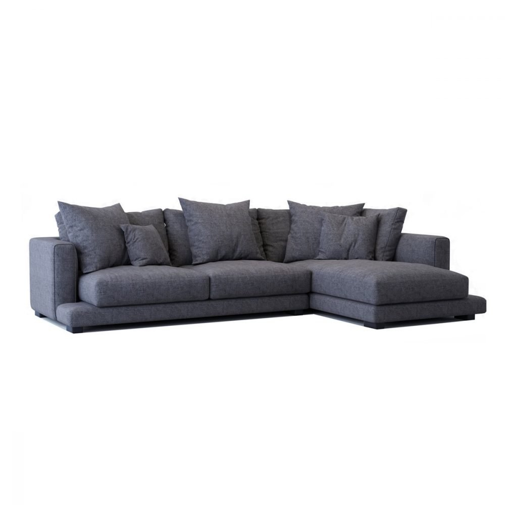 Maxwell 3 seater chaise FLAM1PAVE - Simplife