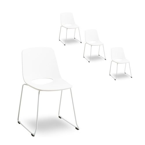 Simplife Set of 4 Olivia White Dining Chair