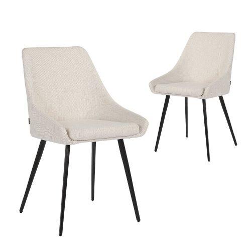Simplife Set of 2 Shogun Sand Colour fabric Dining Chairs