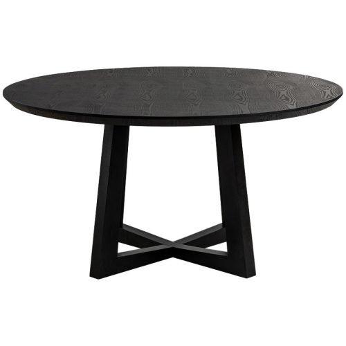 Simplife 150cm Sloan Black Timber Dining Table