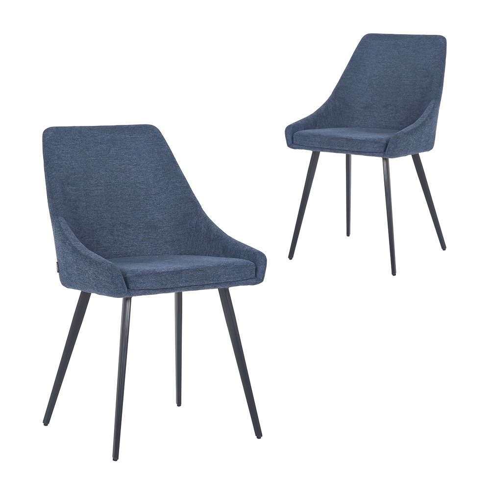 Simplife Set of 2 Shogun Navy fabric Dining Chairs