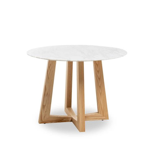 100cm Sloan Natural Marble Dining Table Natural Leg